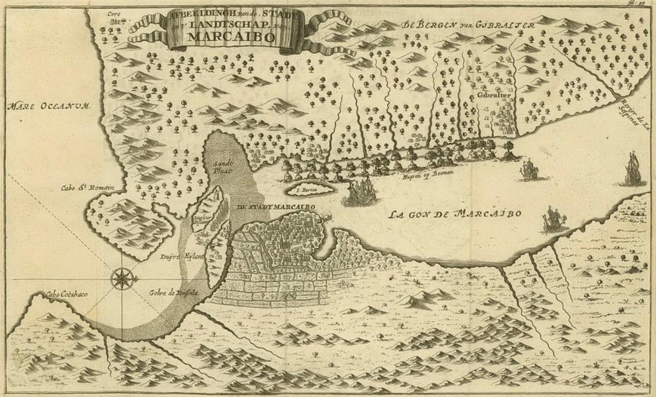 10. Карта лагуны Маракайбо, 1678 г.